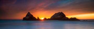 Seal Rocks Panorama Sunset #1