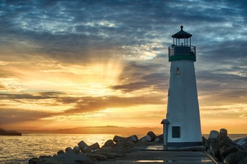 Morning Sun Beams at Walton Lighthouse