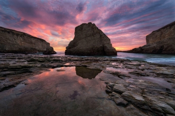 Shark Tooth Cove Sunset