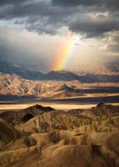 Rainbow at Zabriskie Point
