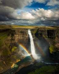 Double Rainbow Over Haifoss