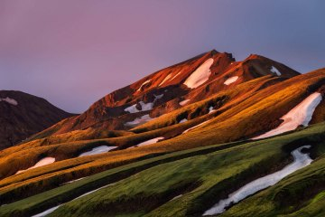 Landmannalaugar Sunrise on Rhyolite Mountains