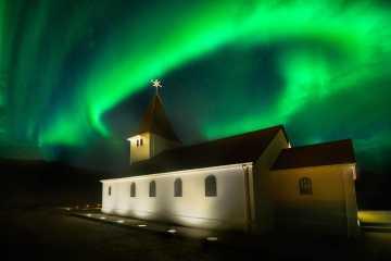 Northern Lights Over Vik