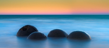 Moeraki Boulders Sunset