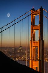 Golden Gate and the Moon