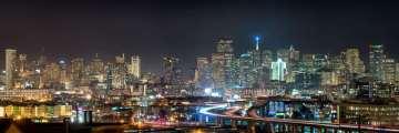 San Francisco Skyline Night Panorama #1