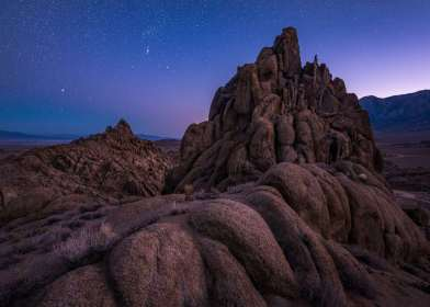 Twilight in the Alabama Hills