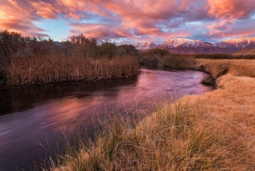 A Morning Along the Owen's River Under Autumn Light