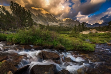 20 Lakes Basin Sunset