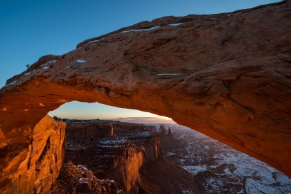 First Light at Mesa Arch