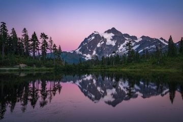 Mount Shuksan Sunset Reflections