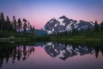 Mount Shuksan Sunset Reflections
