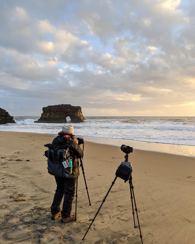 California Coast photo workshop participant along coast