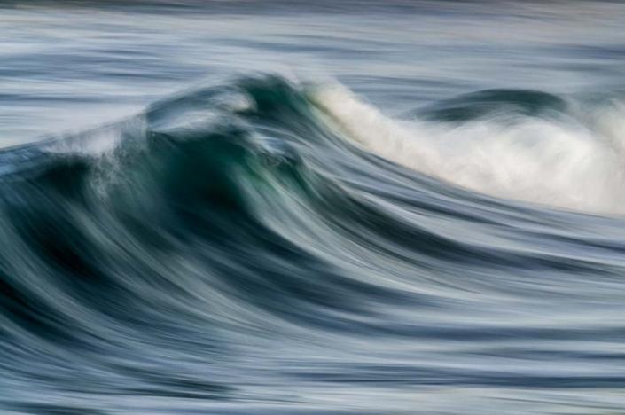Impressionistic rendering of ocean surf