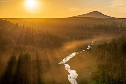 palouse river overlook at sunset